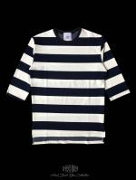 【FLASHBACK18SS最新作】Over Size 5-Sleebe Border Tee