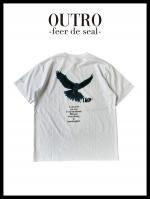 OUTRO-feer de seal- Back Eagle Essential Tee WHT
