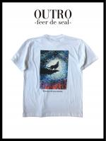 OUTRO-feer de seal- Wolf Painting Logo Tee WHT