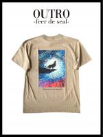 OUTRO-feer de seal- Wolf Painting Logo Tee BEG
