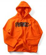 VLONE FRIENDS HOODIE ORANGE×BLK
