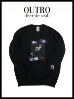 OUTRO-feer de seal- Rose Lady Sweat shirt BLK