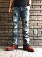 Burn Out Damage 14.5oz JAPAN Denim  custom