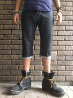 14,5oz-JAPAN MADE STANDARD REVET Cropped Denim Pants