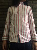 OXford 70'S Stripe Shirts Type:Scar Red