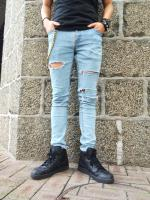 Unborn Carf Hard Damage Skinny Denim