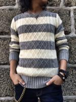 FLASHBACK Border Cable Knit Sweater