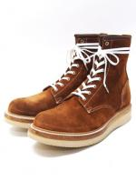 Lace Up Suede Logger Boots