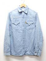 Western Denim Shirts-L,INDIGO-
