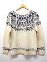 Nordic Knit Sweater-OFF WHITE-