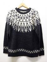 Nordic Knit Sweater-CHACOAL-