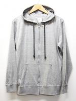 Cut Zip Up Parka-GRAY-