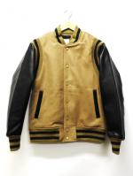 Authentic Award Jacket-BEIGExBLACK-