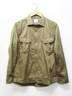Typewriter Military Shirts-BEIGE-