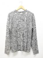 Crewneck Knit Sawn-GRAY-