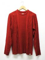 Crewneck Knit Sawn-RED-