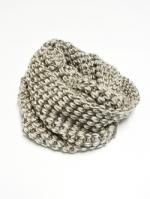 Low Gauge Knit Snood-BEIGE-