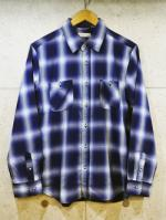 Ombre Check Shirts-BLUE-