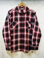 Ombre Check Shirts-RED-