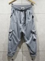Army Cargo Jogger Pants-GRAY-