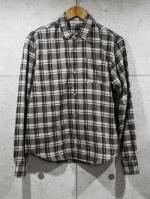Airy Check Shirts-BROWN-