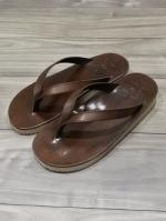 【先行予約5月入荷商品】Tan Leather Thong Sandal-BROWN-