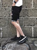 【 FLASHBACK最新作】Hyper Fit Remake Damage Denim Shorts