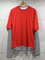 Border Layered Tee-RED-