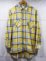Long Check Shirts-YELLOW-