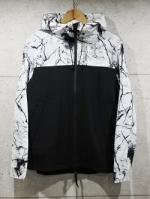 Marble Effect Windbreaker-WHITE-