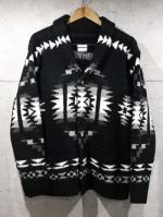 Native Knit Cardigan-BLACK-