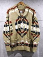 Native Knit Cardigan-BEIGE-