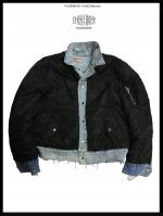 【FLASHBACK17AW最新作】Vintage Damage Denim&MA-1 Jacket