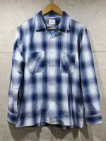 【先行予約1月入荷商品】Open Collar Ombre Check Shirts-BLUE-
